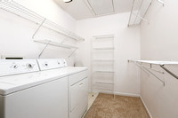 Walk-in closet and laundry room