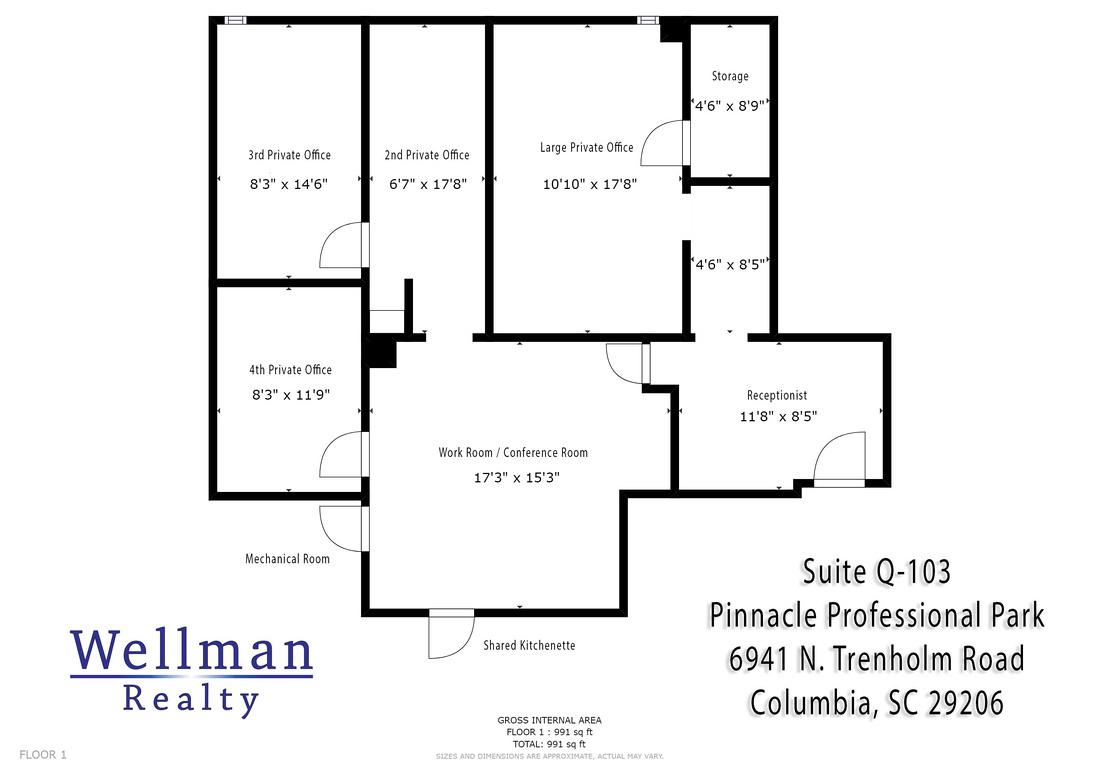 Floor Plan - Suite Q-103