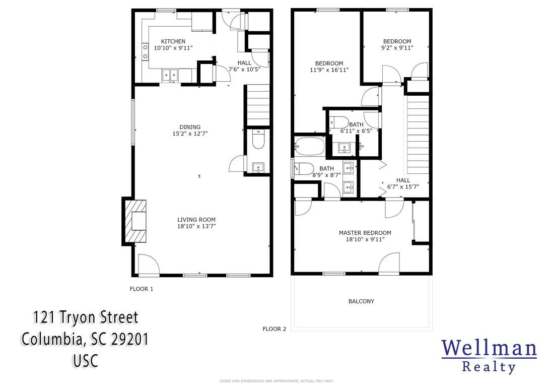 Floor Plan of 121 Tryon Street