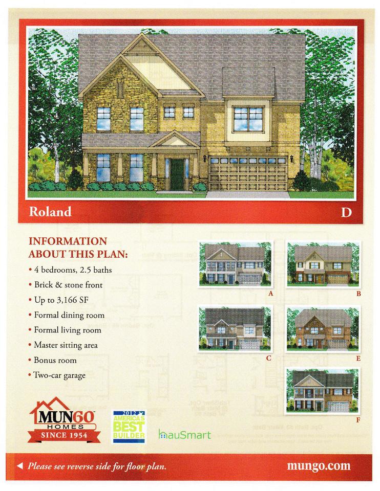 Roland Elevations   Mungo Homes