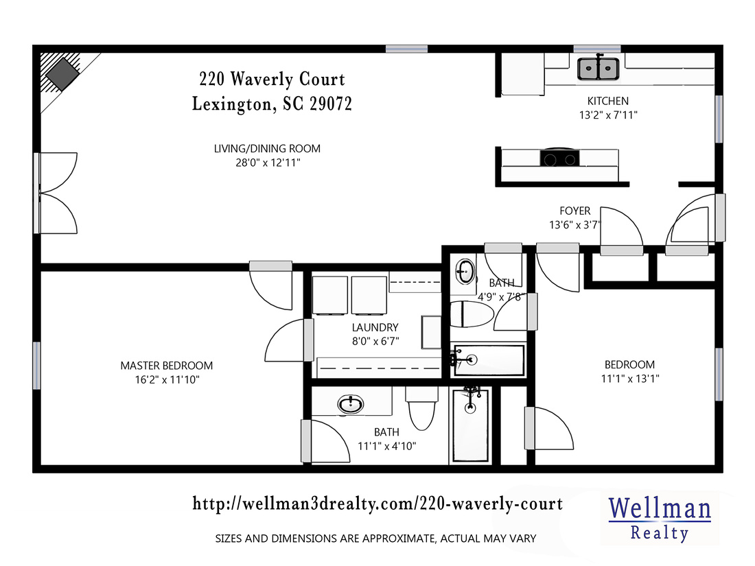 Floor Plan - 220 Waverly Court_Wellman Realty