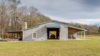 4,000 sf barn and living quarters